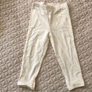 Baby white leggings